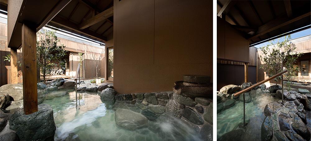 共有・貸切 庭園露天風呂 たける
